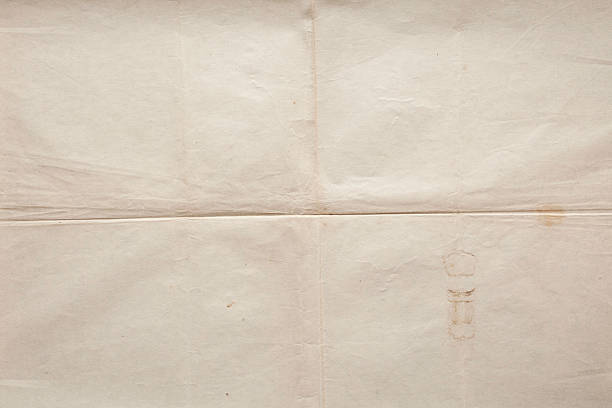 old paper texture background - folded stock photos and pictures