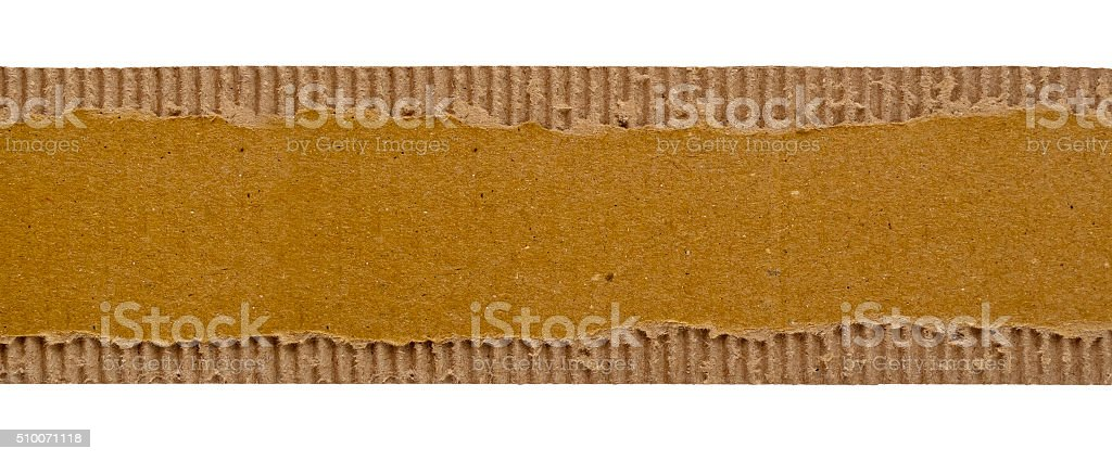 Old paper torn strip isolated stock photo