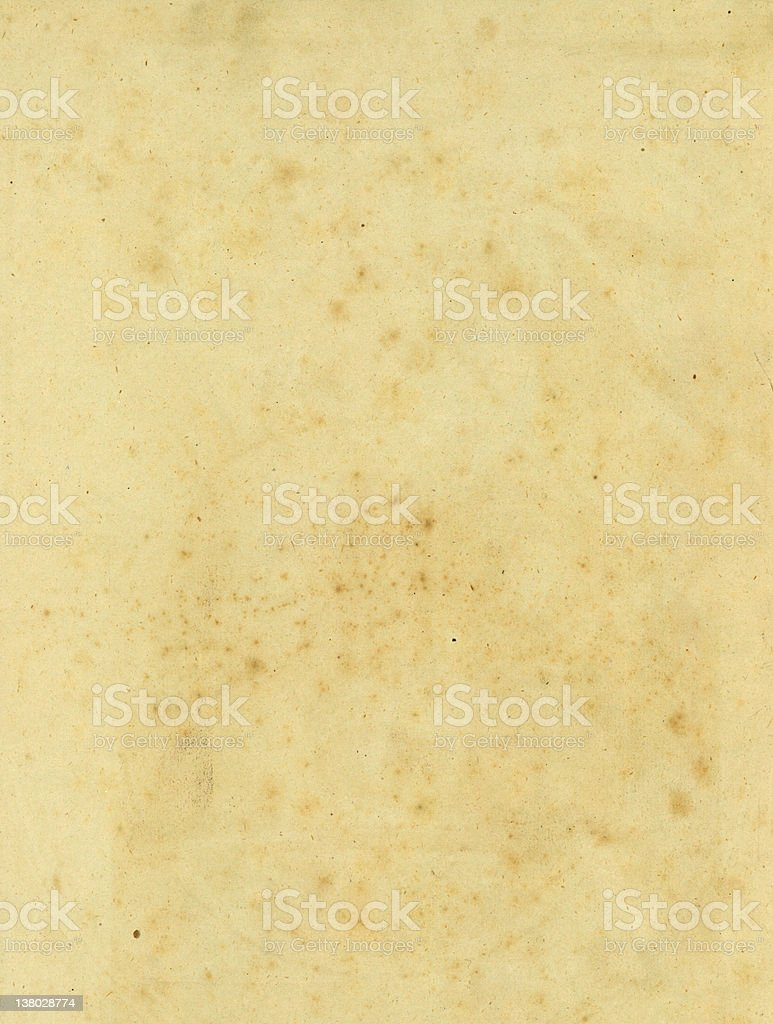 Old paper with age mottling royalty-free stock photo