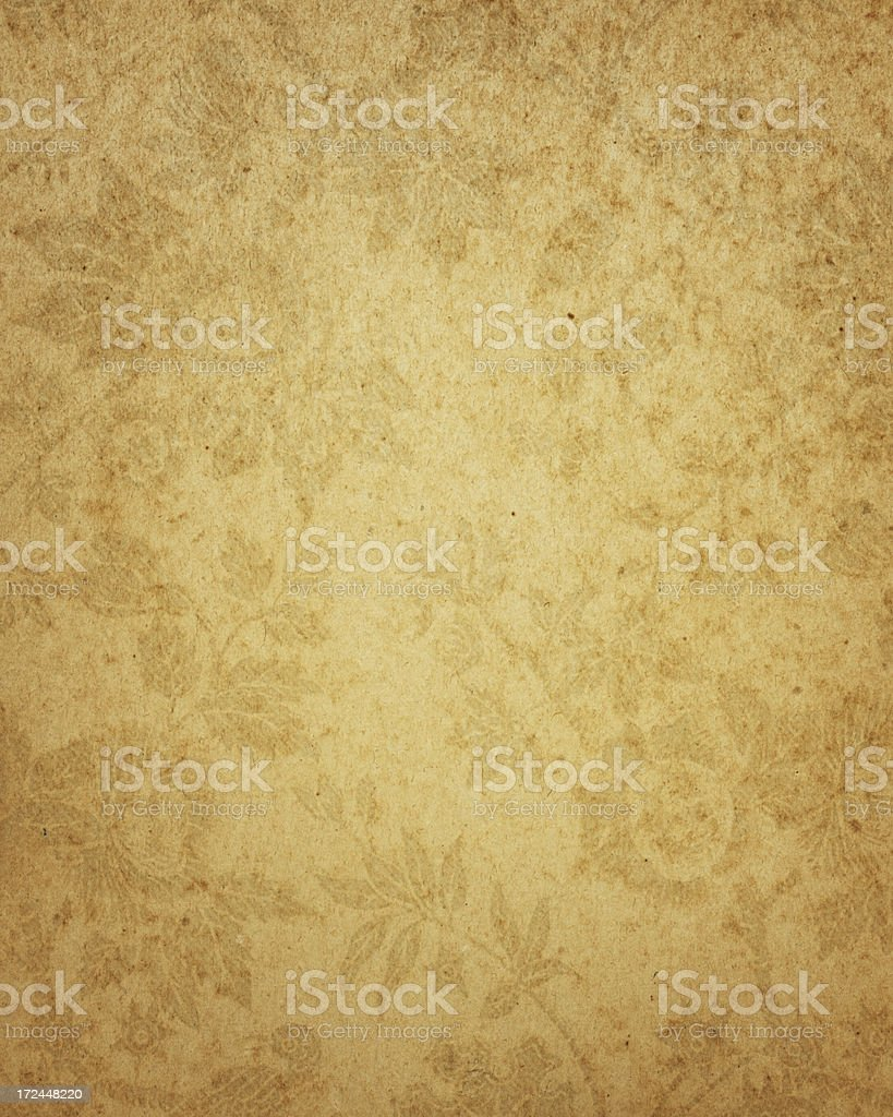 old paper with antique floral pattern stock photo