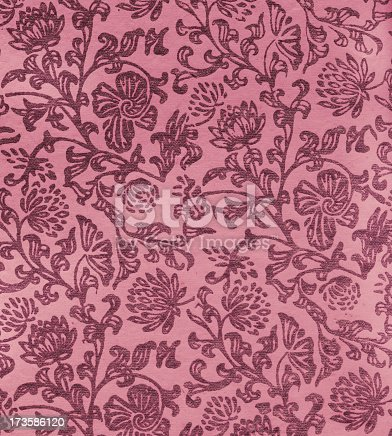 480646533 istock photo old paper with Art Nouveau floral pattern 173586120