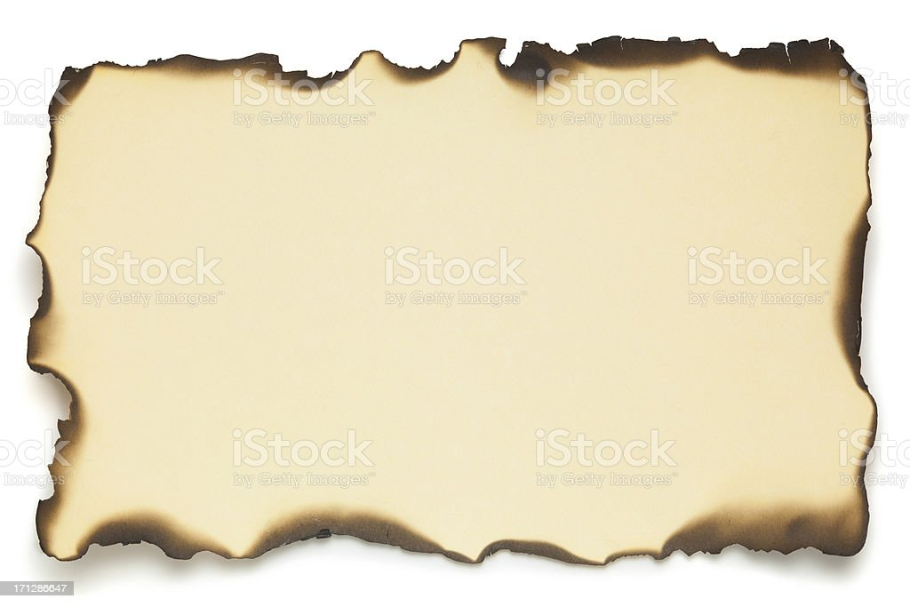 Old Paper With Burned Edges stock photo