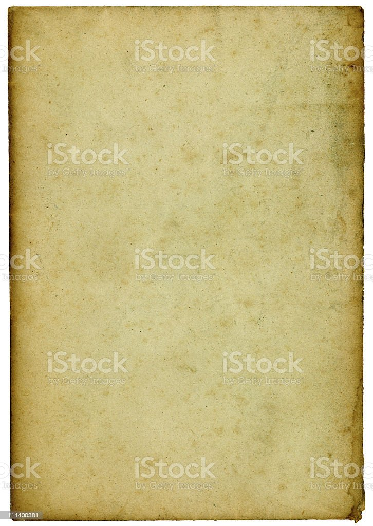 Old paper with darkened edges stock photo