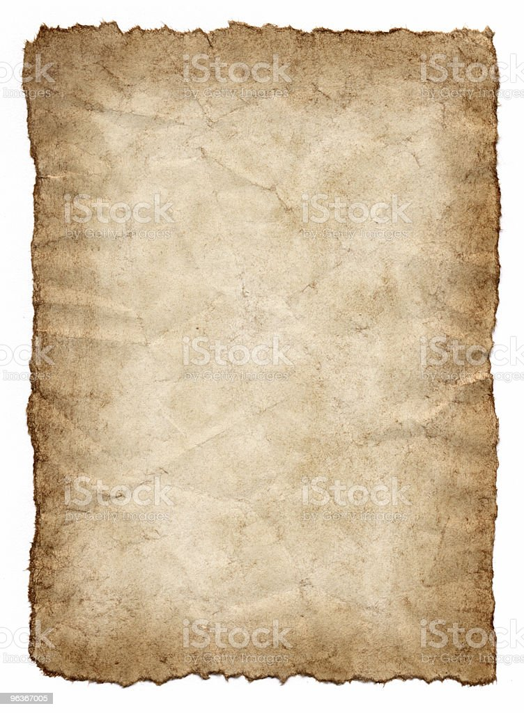 Old paper with distressed edges royalty-free stock photo