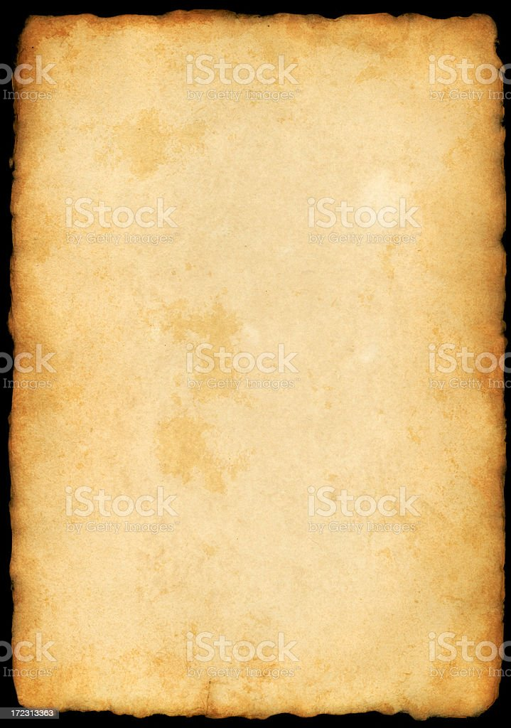 XXXL old paper with frayed edges royalty-free stock photo