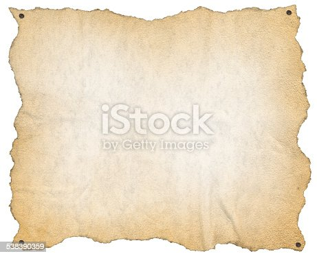 924754302 istock photo Old Paper with Nails 538390359
