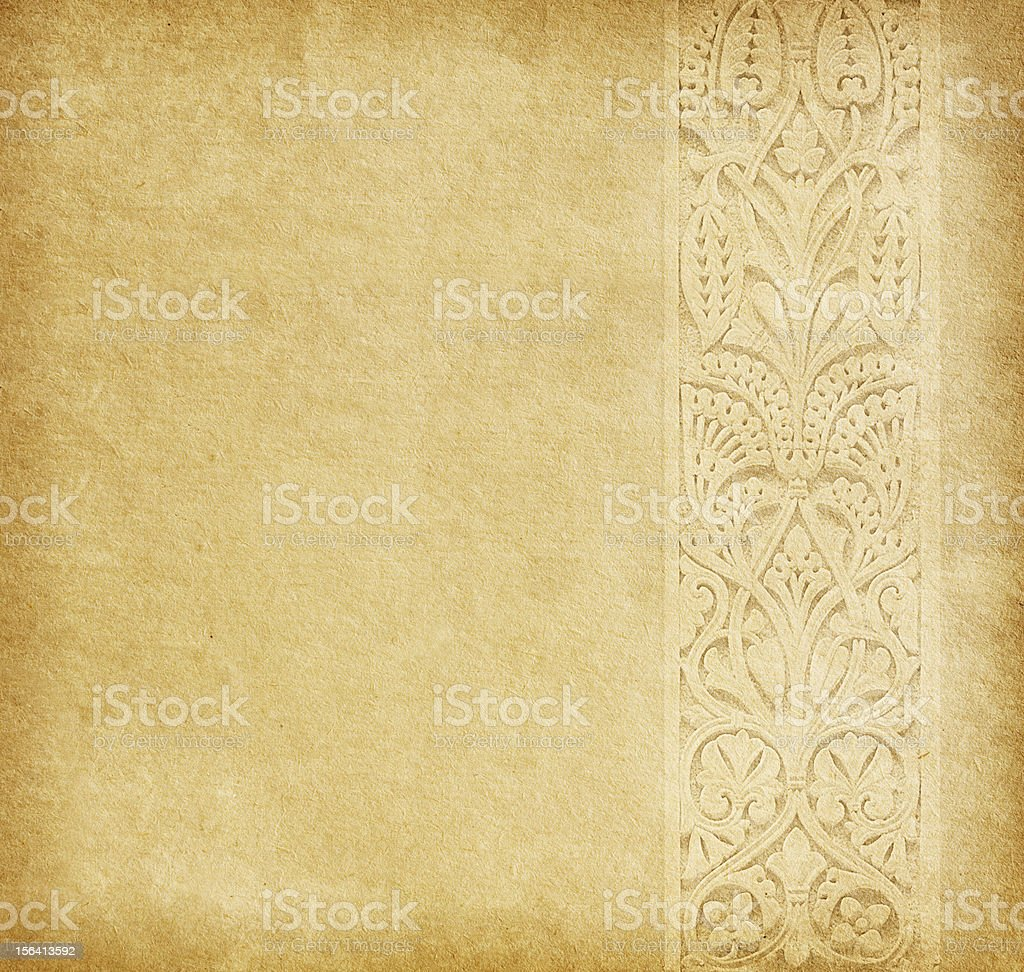 Old  paper with oriental ornament. royalty-free stock photo