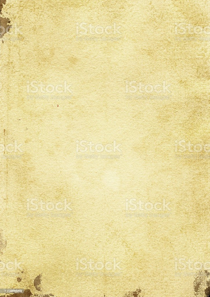 old paper with some splats and fingerprints royalty-free stock photo