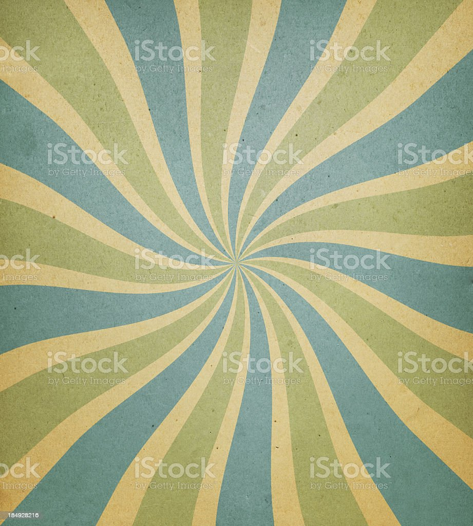 old paper with spiral ray pattern stock photo
