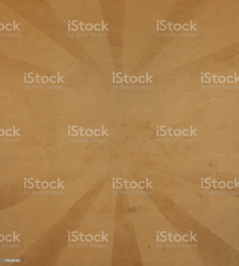old paper with starburst pattern royalty-free stock photo
