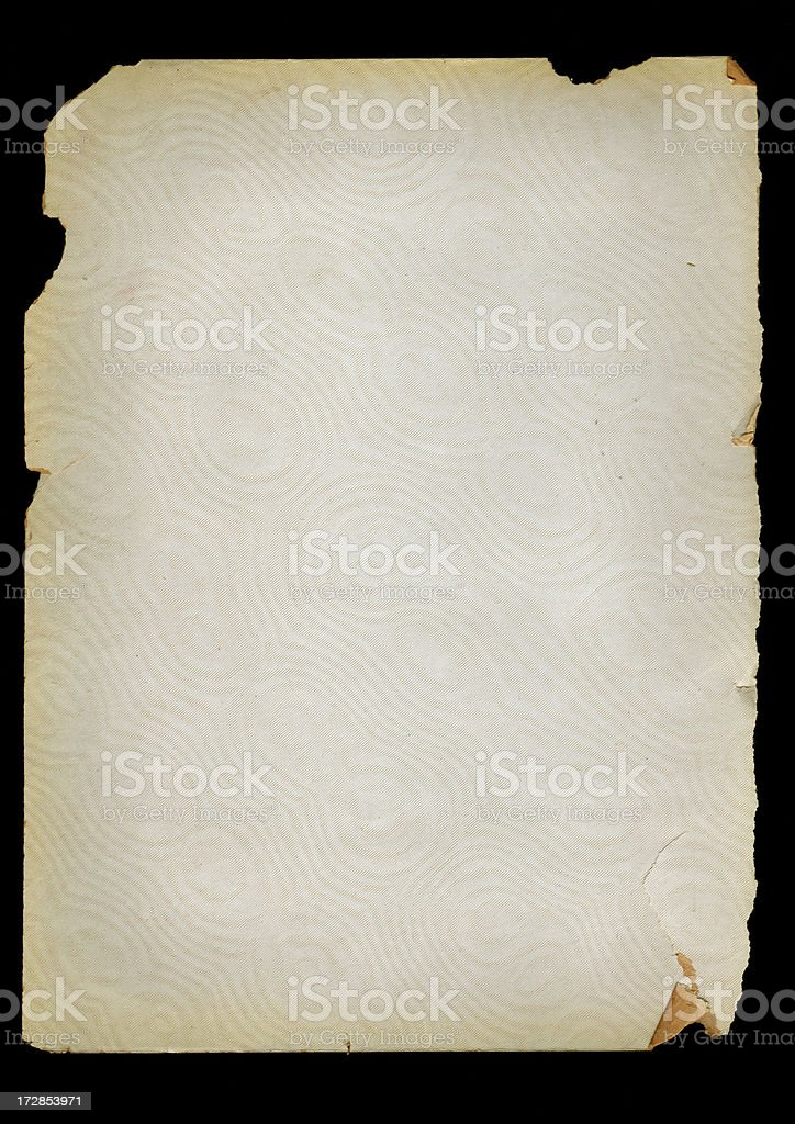 Old Paper with Torn Edges royalty-free stock photo