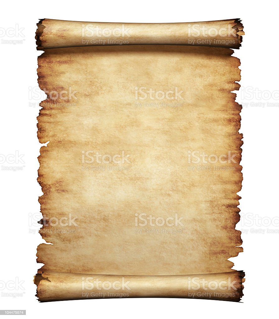 Old Parchment Paper Letter Background stock photo