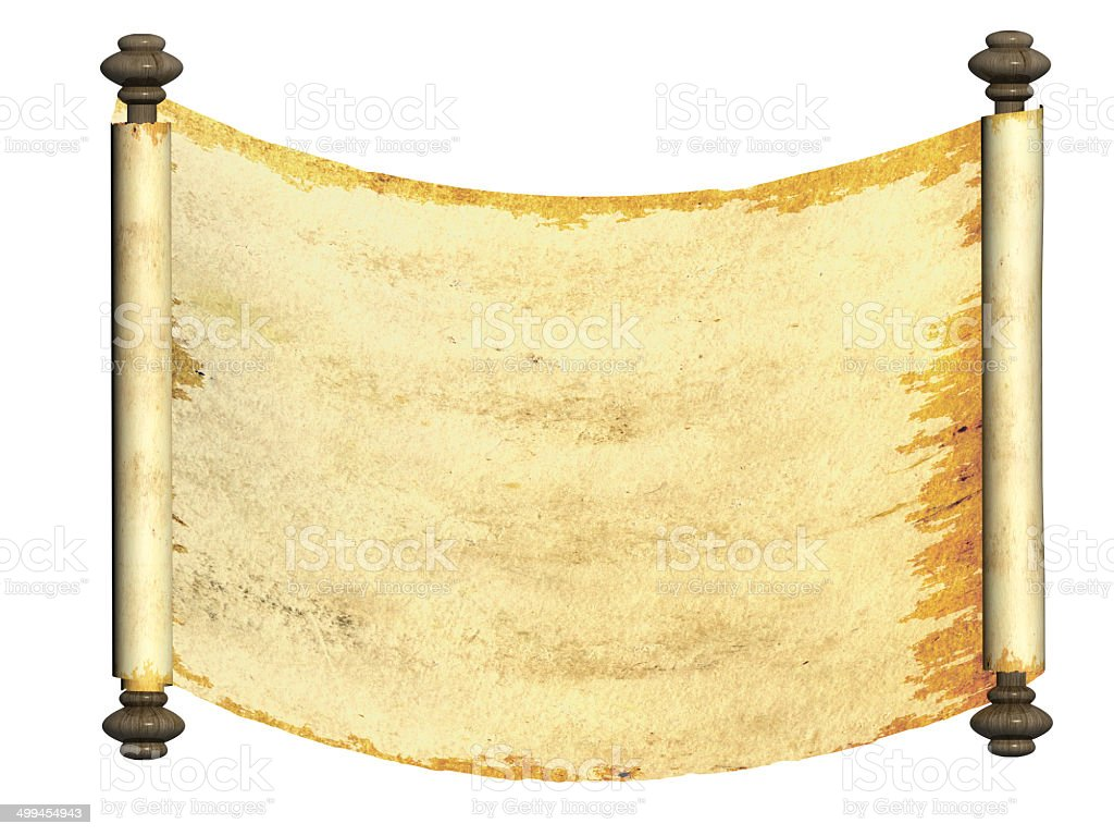 Old parchment royalty-free stock photo