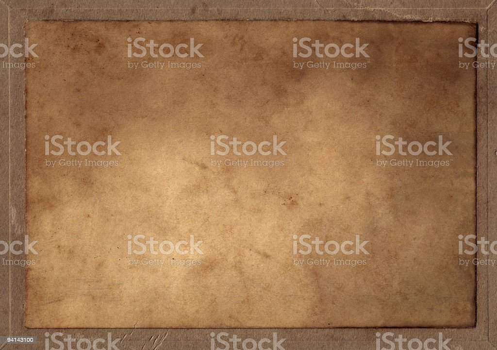 Old Parchment Rectangle Blank royalty-free stock photo