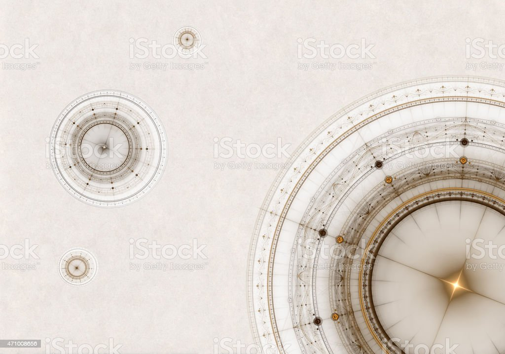 Old Parchment  With Compass stock photo
