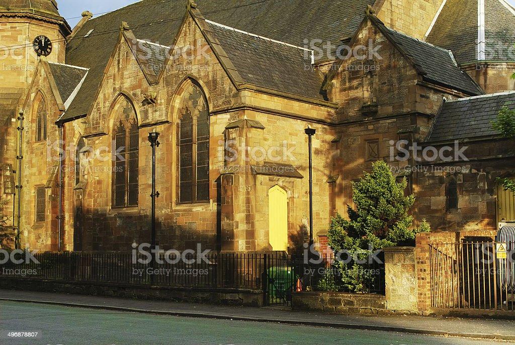 Old parish church in Ibrox in Glasgow, Scotland stock photo