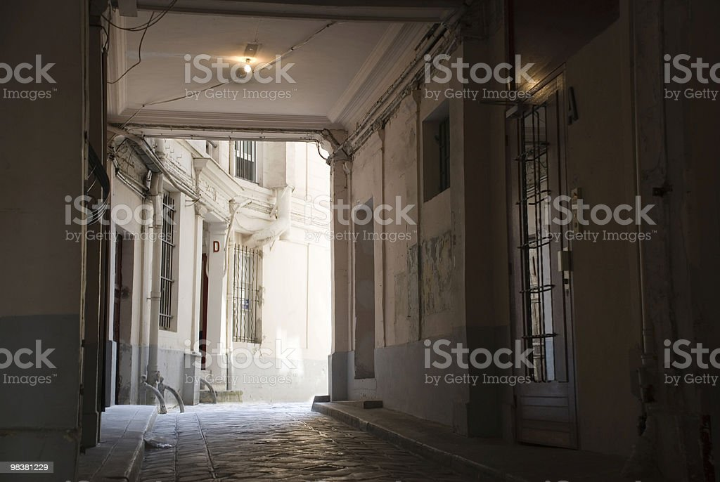 Old parisian building royalty-free stock photo