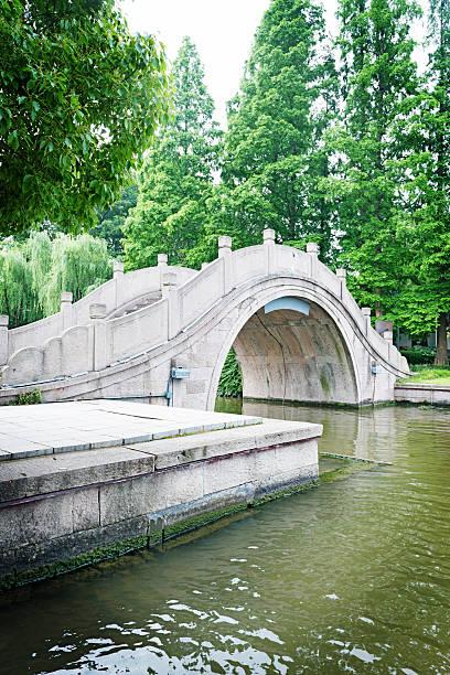 Old park-Brücke im Frühling – Foto