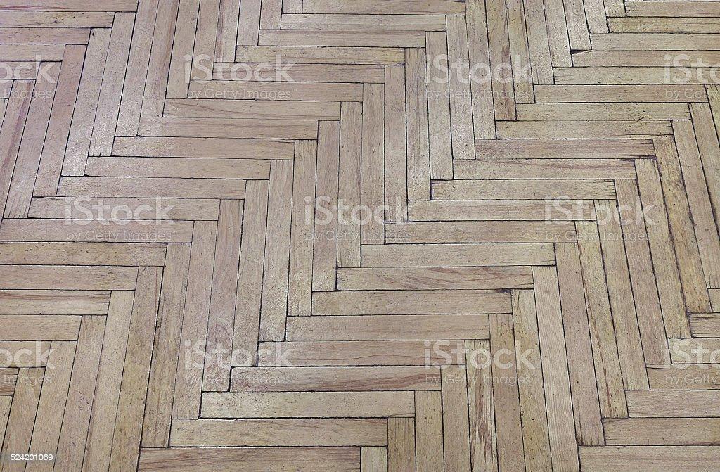 Old parquet floor. stock photo