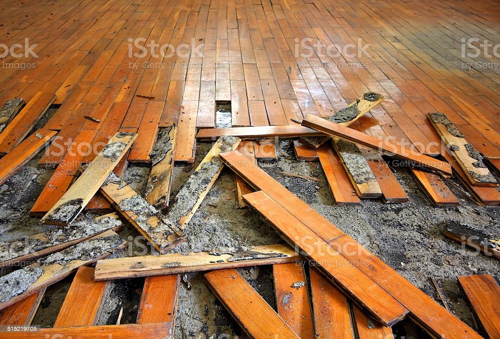 Old Parquet stock photo