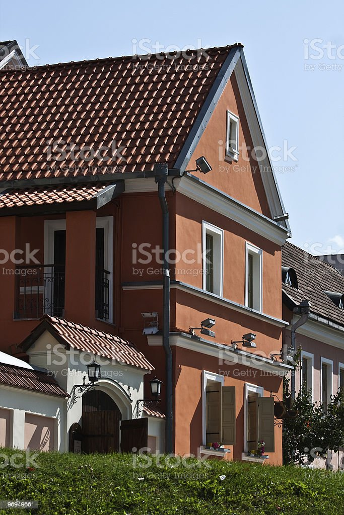 old part of a city royalty-free stock photo