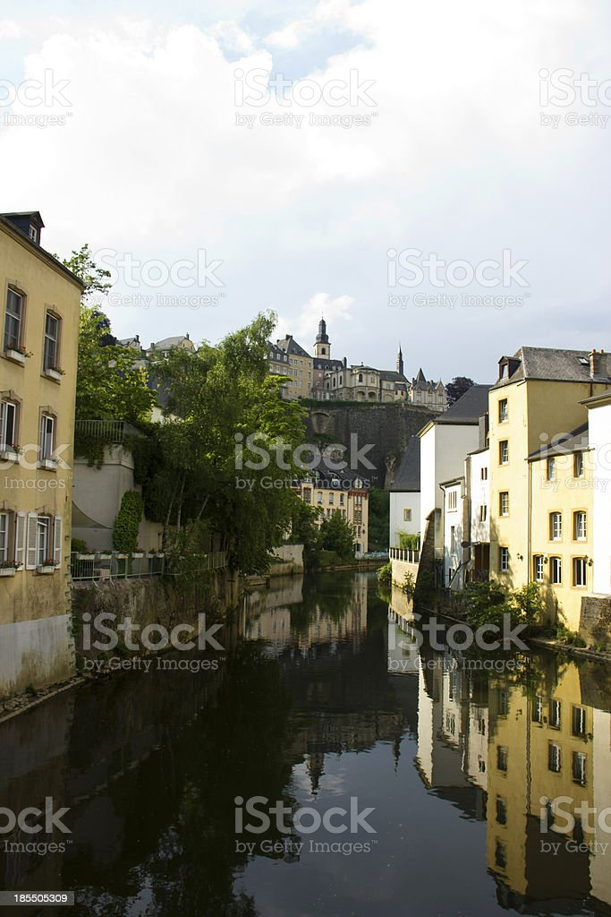 Old Part of Luxembourg City royalty-free stock photo