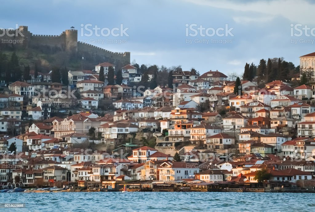 Old part of Ohrid stock photo