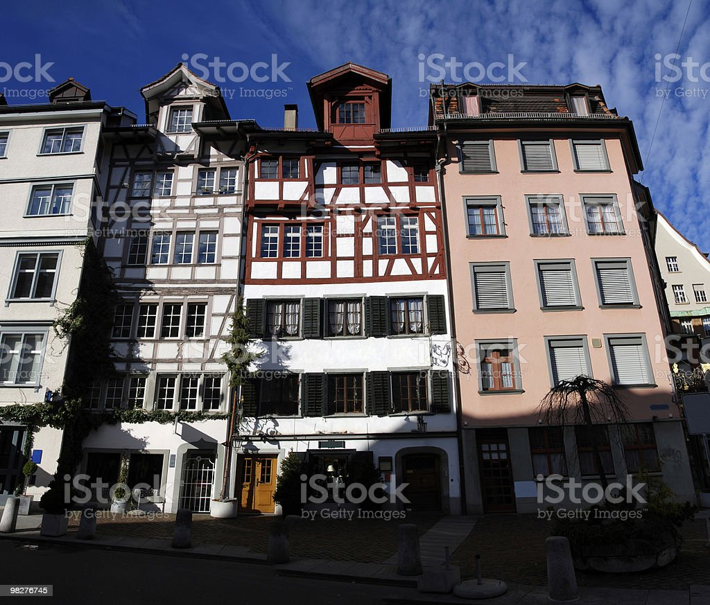 Old part of the city St.Gallen, Switzerland royalty-free stock photo