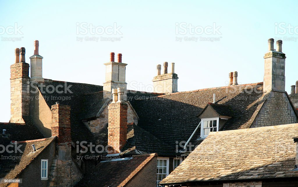 Old part of the town royalty-free stock photo
