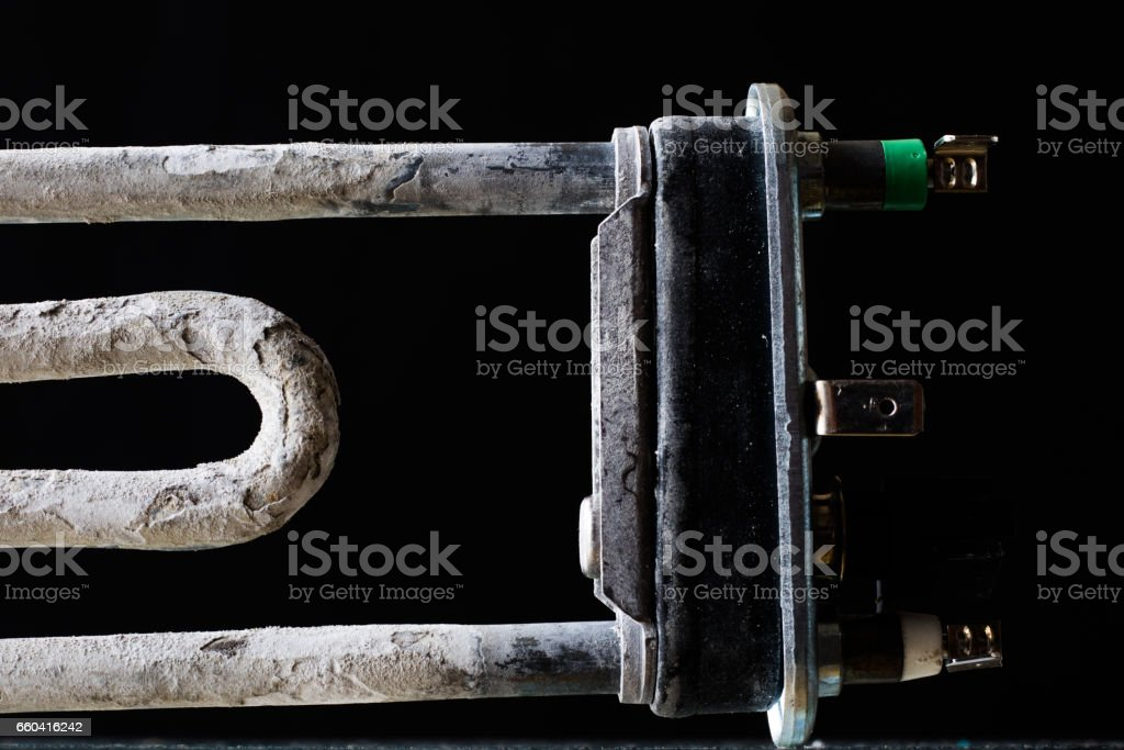 old parts for washing machines stock photo