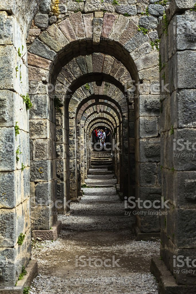 Old passage stock photo