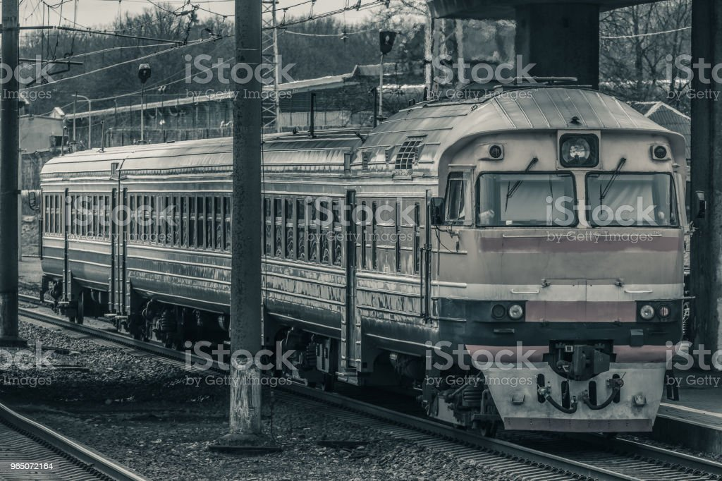 Old passenger train zbiór zdjęć royalty-free