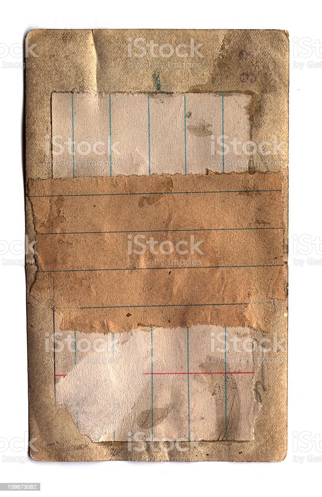 Old Pasted Paper royalty-free stock photo
