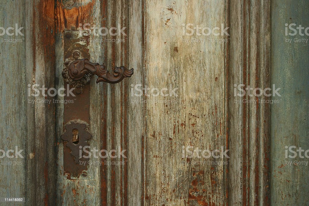 Old Patinated Door Detail stock photo