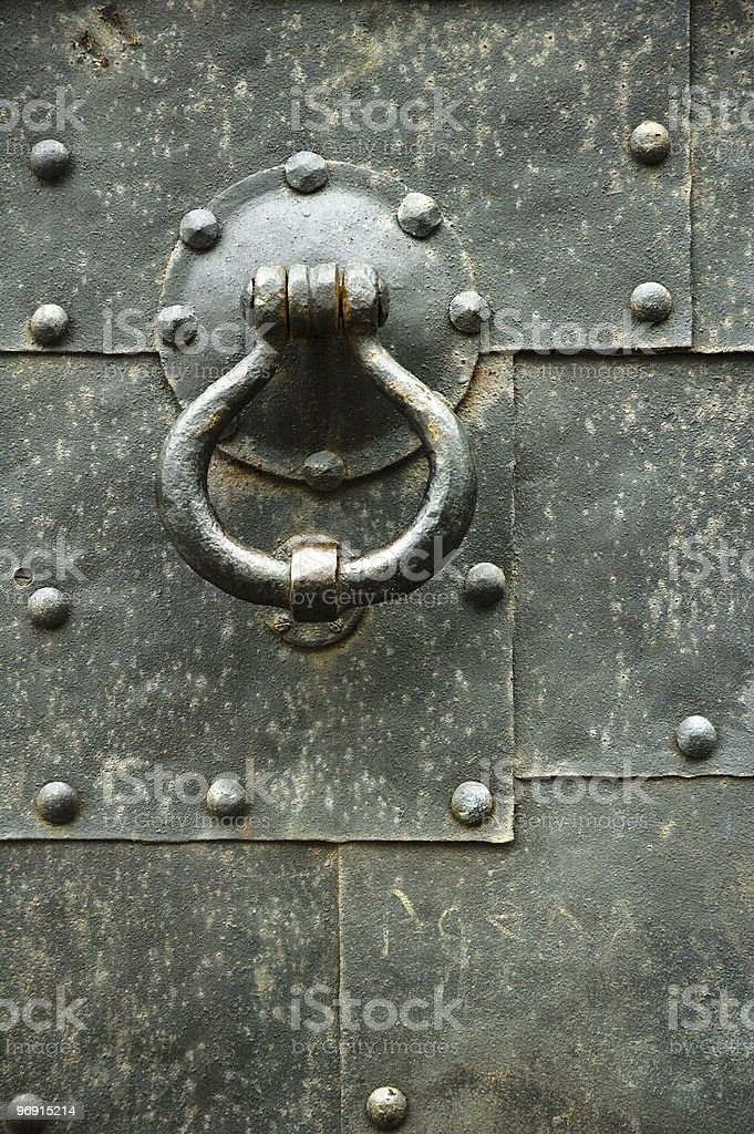 old pattern gate with a knocker royalty-free stock photo