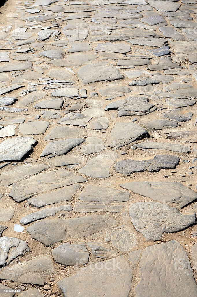 old paved road tiradentes minas gerais brazil royalty-free stock photo