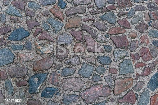 old paving stone road, background photo