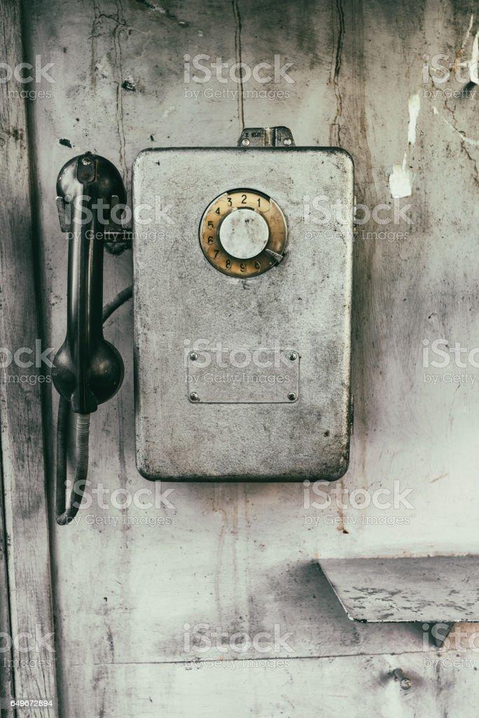 Old payphone stock photo
