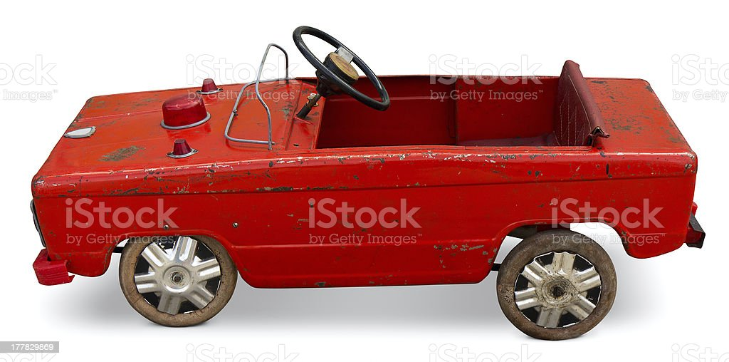 Old pedal toy car royalty-free stock photo