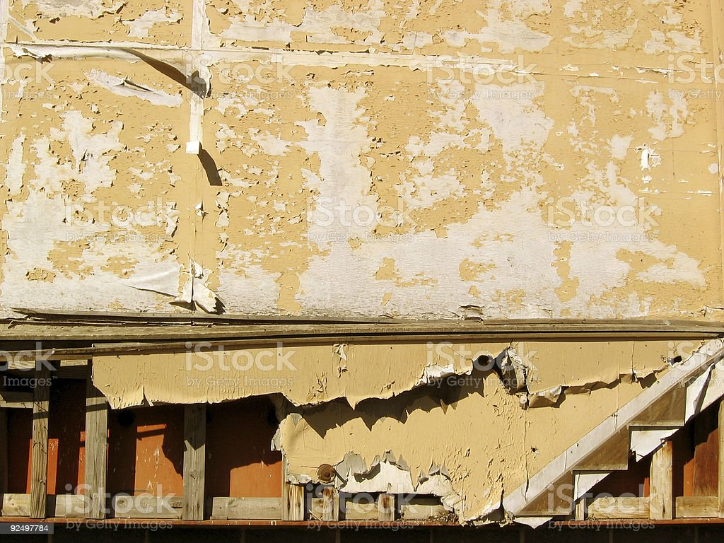 Old Peeling Building Side royalty-free stock photo