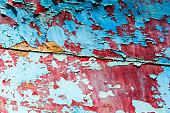 Old peeling paint grunge background