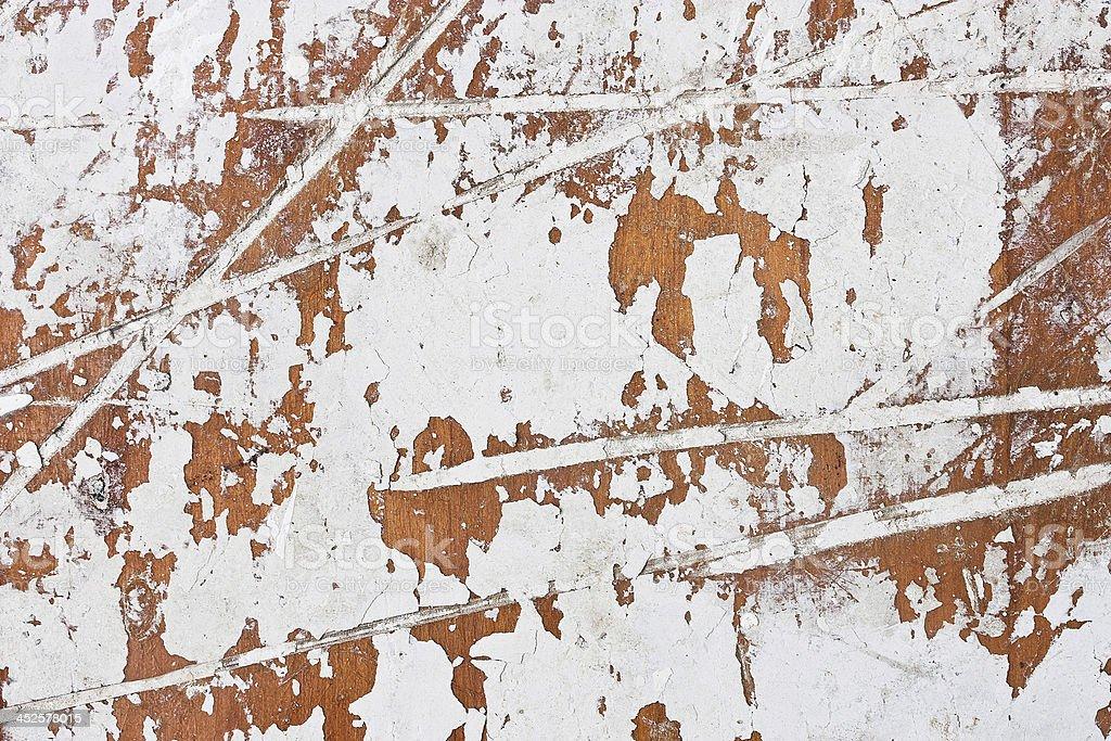 old peeling white paint stock photo