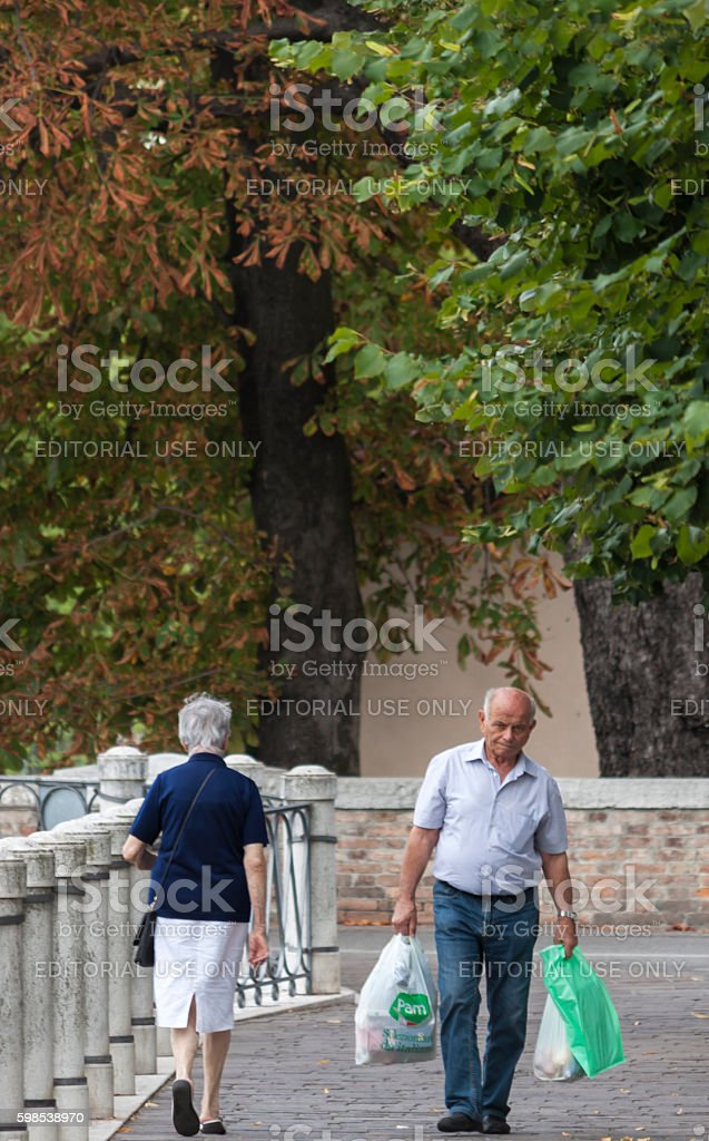 Old people jobs stock photo