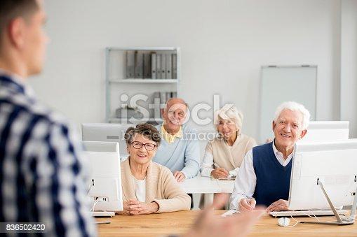 istock Old people listening to teacher 836502420