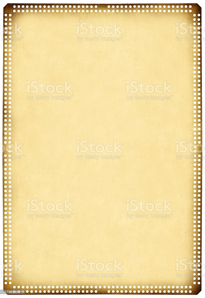 Old perforated paper royalty-free stock photo
