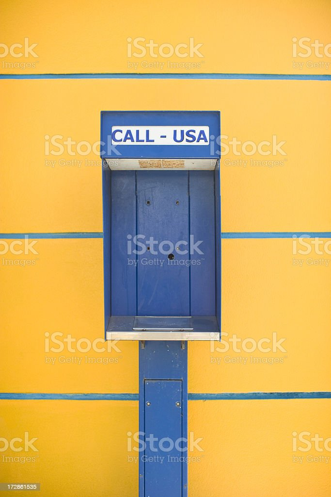 Old phone booth royalty-free stock photo