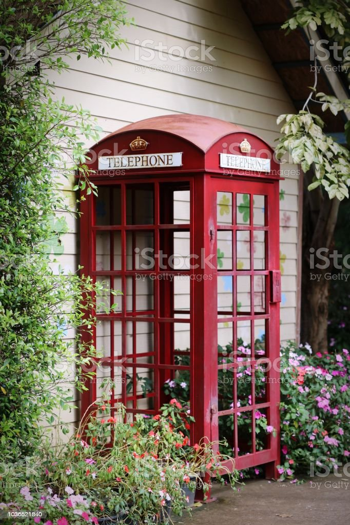 Old Phone Cabinet In Red Stock Photo Download Image Now Istock