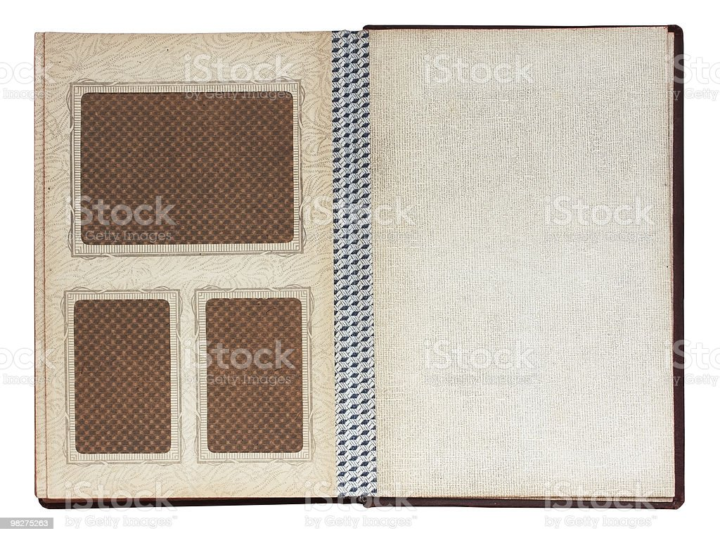 old photo album isolated royalty-free stock photo