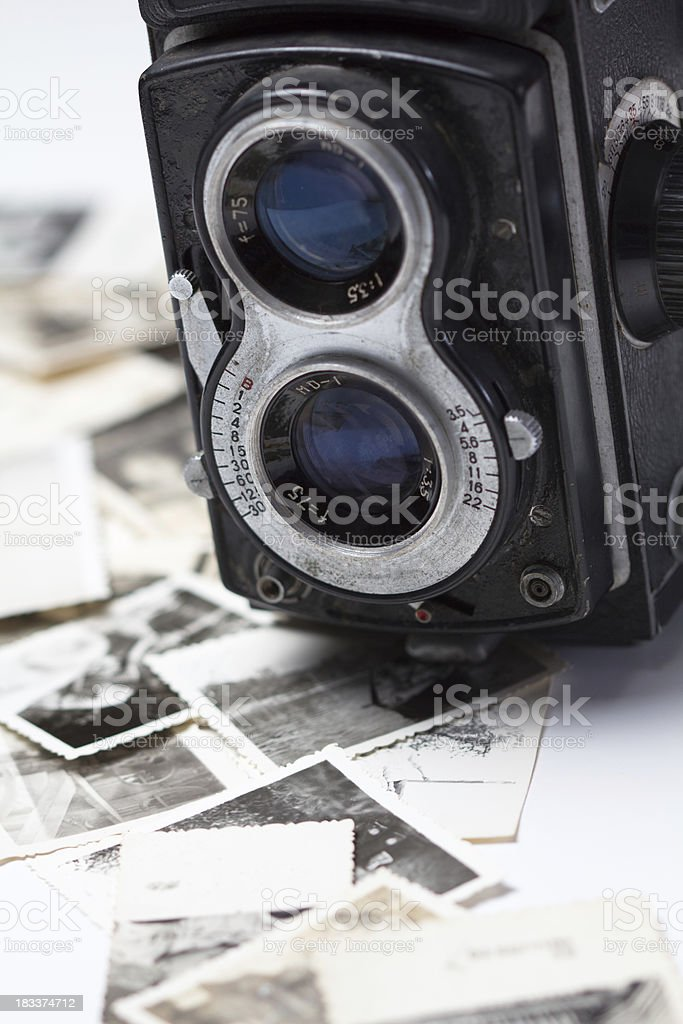 old photo and camera stock photo