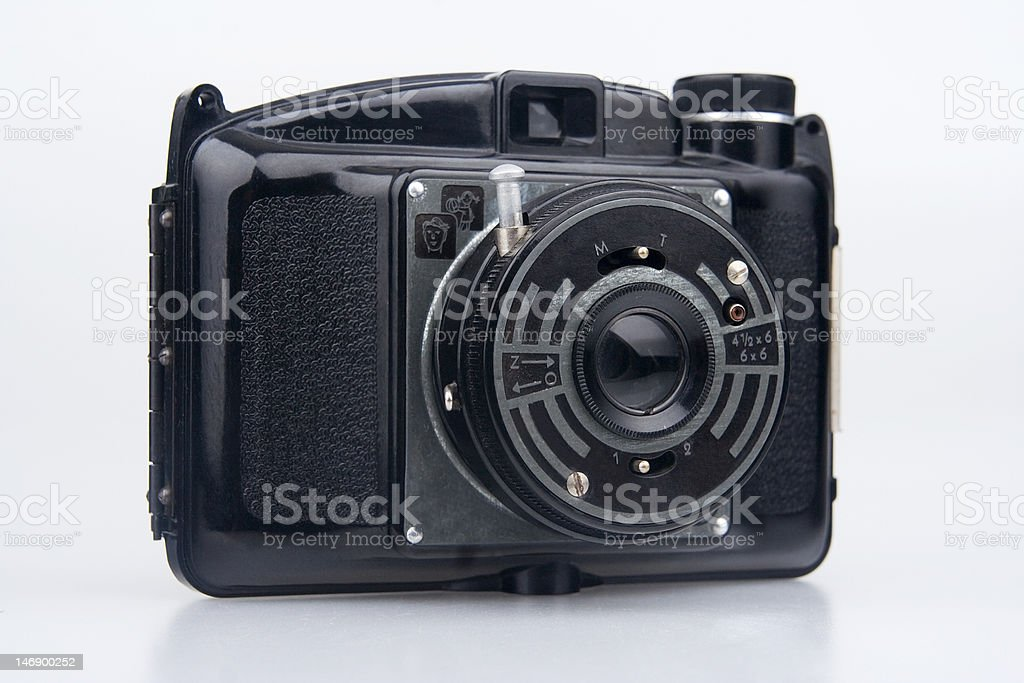 Old  photo camera. stock photo